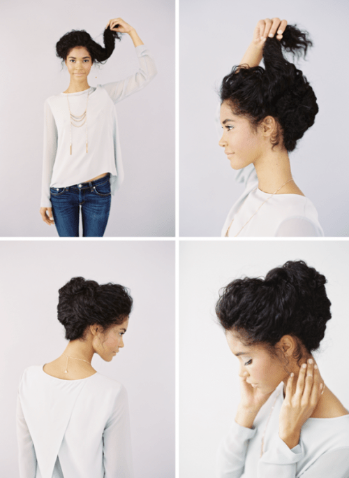 Lovely DIY Wedding Updo For Naturally Curly Hair