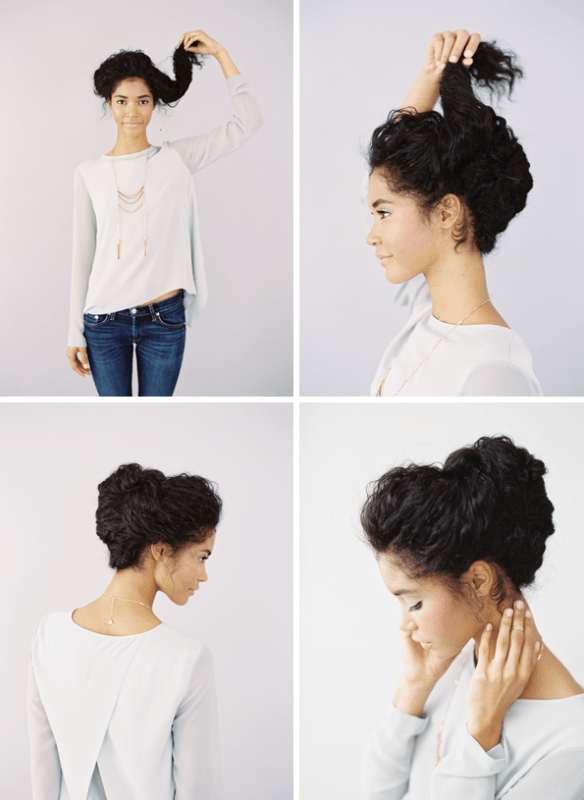 Picture Of Lovely Diy Wedding Updo For Naturally Curly Hair 5
