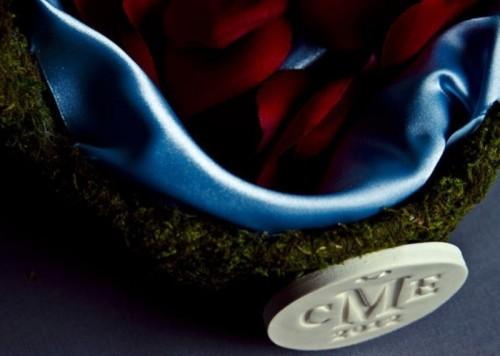 Lovely Moss Flower Girl Basket