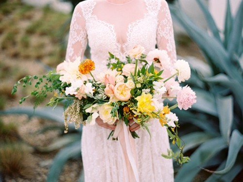 Lovely Peach And Yellow Wedding Shoot