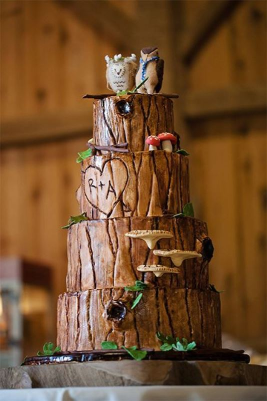 Picture Of Lovely Rustic Inspired Country Wedding Cakes 12