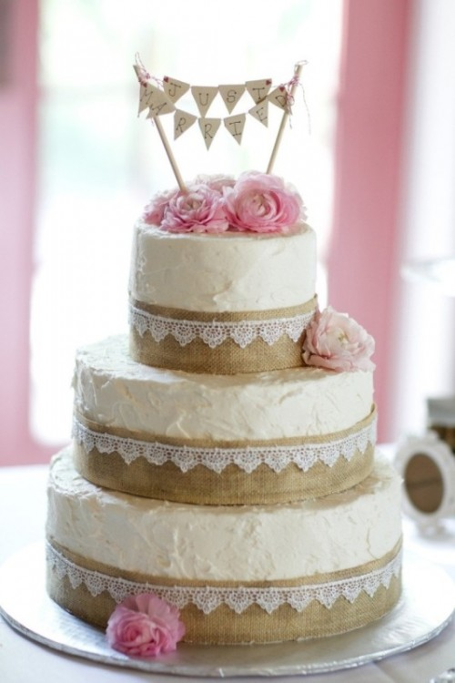 Lovely Rustic Inspired Country Wedding Cakes