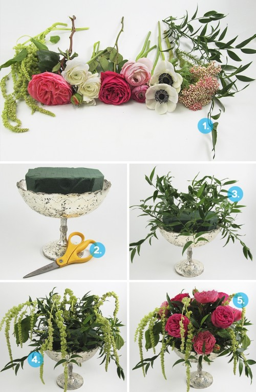 Lush Diy Anemone Wedding Centerpiece