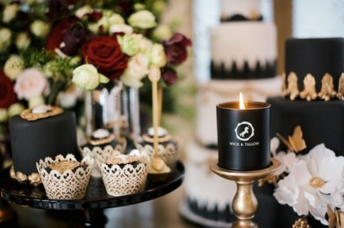 Luxurious And Glam Black And Gold Wedding Shoot
