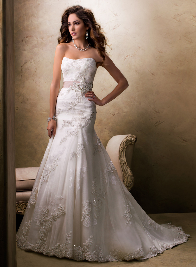 Picture of luxurious wedding dresses collection by maggie for Maggie sottero mckenzie wedding dress