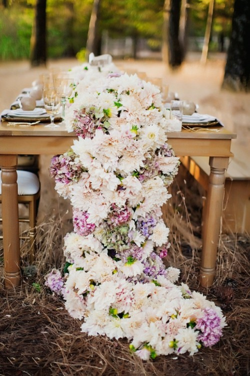 a super lush floral table garland will make your wedding tablescape unforgettable