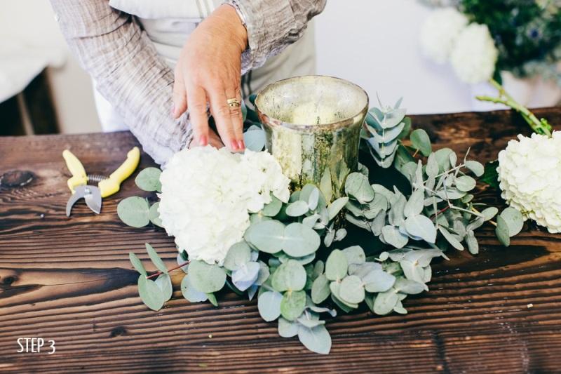 Picture Of luxury diy winter wedding table centerpiece  3