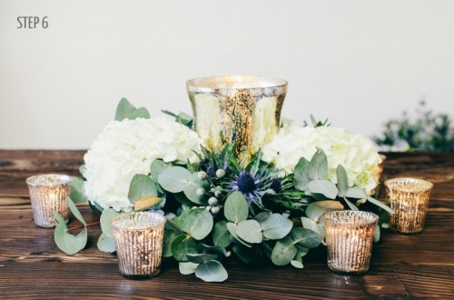Luxury DIY Winter Wedding Table Centerpiece