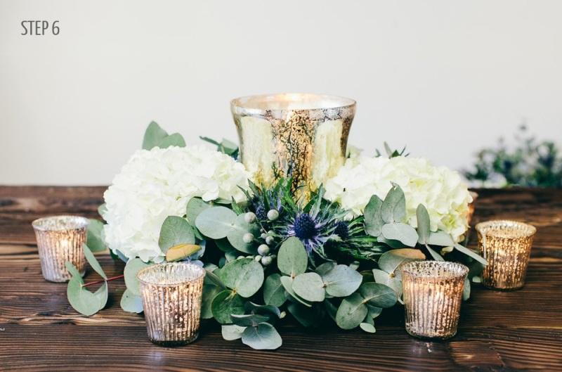 Picture Of luxury diy winter wedding table centerpiece  6