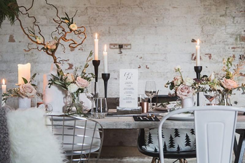 Picture Of magically beautiful and modern scandinavian winter wedding inspiration  11