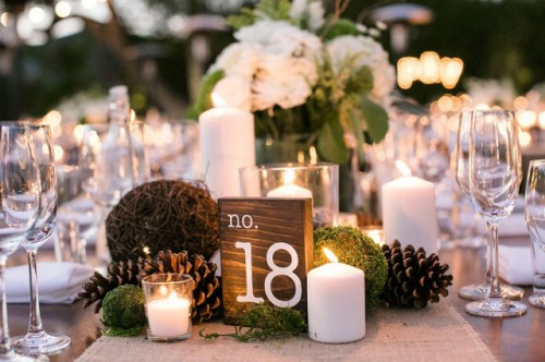 Maleficent Inspired Monochrome Rustic Wedding