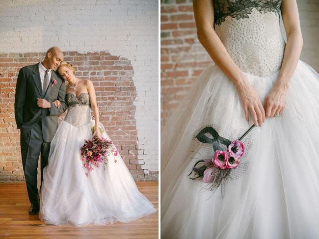 Picture Of Mardi Gras Masquerade Wedding Inspiration
