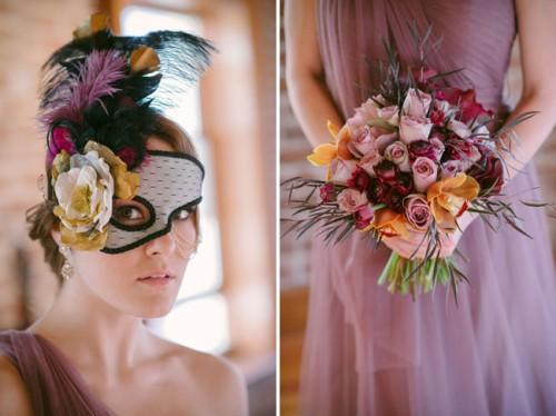 Mardi Gras Masquerade Wedding Inspiration