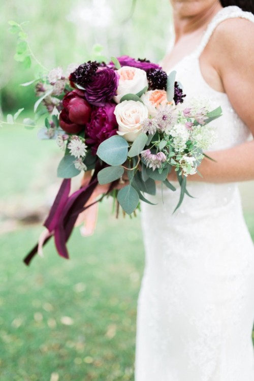 Marsala And Gold Country Chic Wedding Inspiration