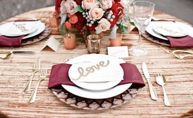 Picture Of marsala wedding ideas  14