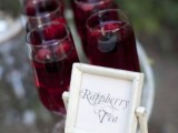raspberry tea of a marsala shade is a great alternative to real wine, perfect if you don't want to serve alcohol