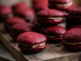 marsala macarons are amazing for a fall or winter dessert table or can be given as wedding favors