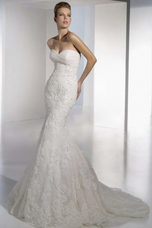 Wedding Dresses Lace Mermaid : Mermaid style wedding gowns inspiration weddingomania