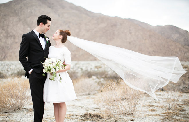 Picture Of Mid Century Modern Wedding In Palm Springs