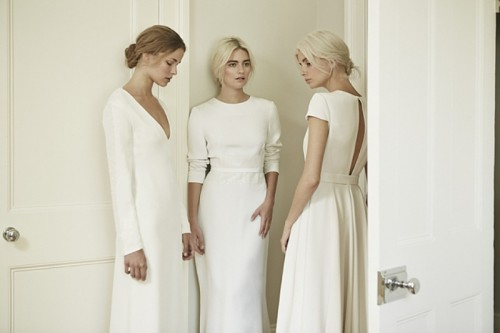 Minimalist Elegance Of Dresses By Charlotte Simpson Bridal