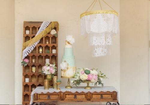 Mint And Gold Romantic Latin Inspired Wedding Inspiration
