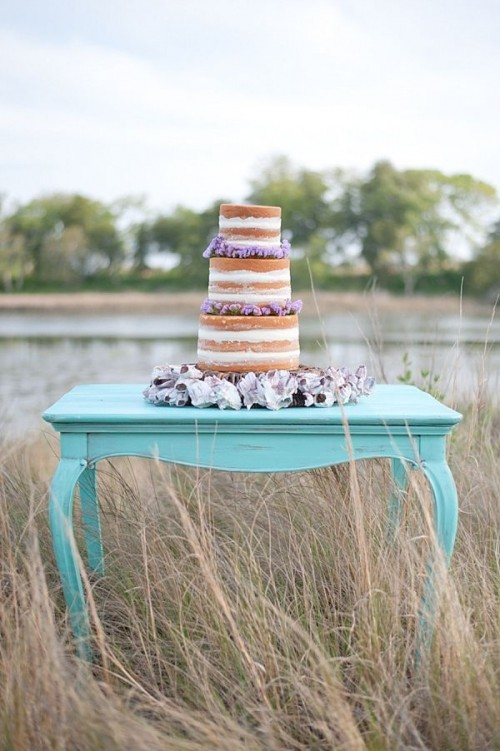 Mint And Lavender Beach Wedding Inspiration With Vintage Touches
