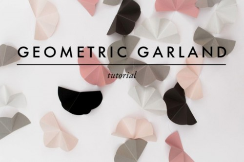 Modern And Easy DIY Geometric Garland For Your Wedding Decor