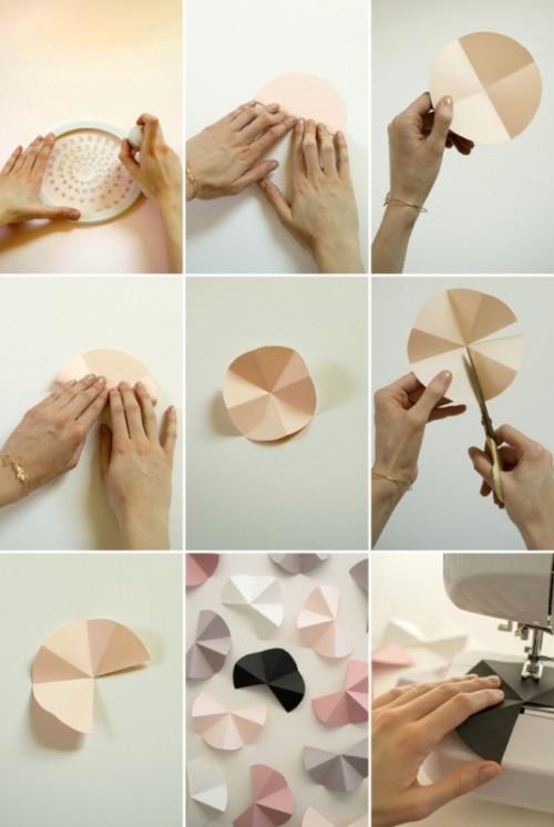 Modern And Easy DIY Geometric Garland For Your Wedding ...
