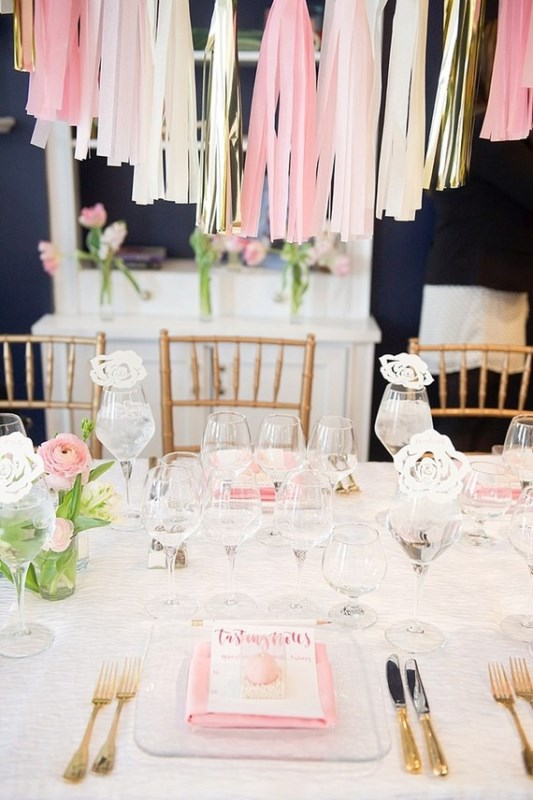 Picture Of modern and girly pink bridal shower inspiration  13