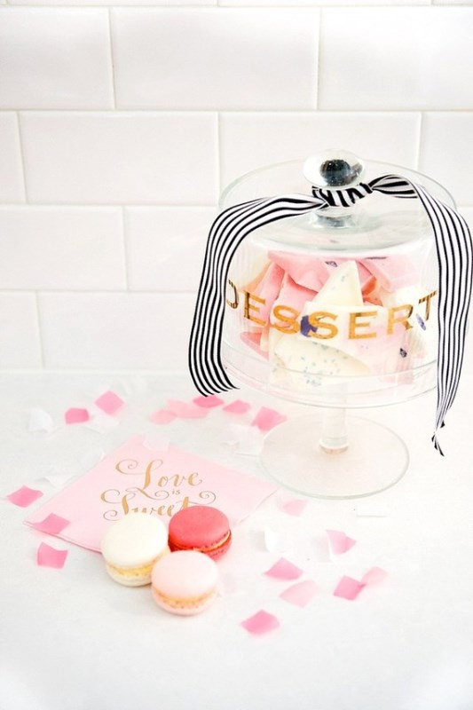 Picture Of modern and girly pink bridal shower inspiration  14