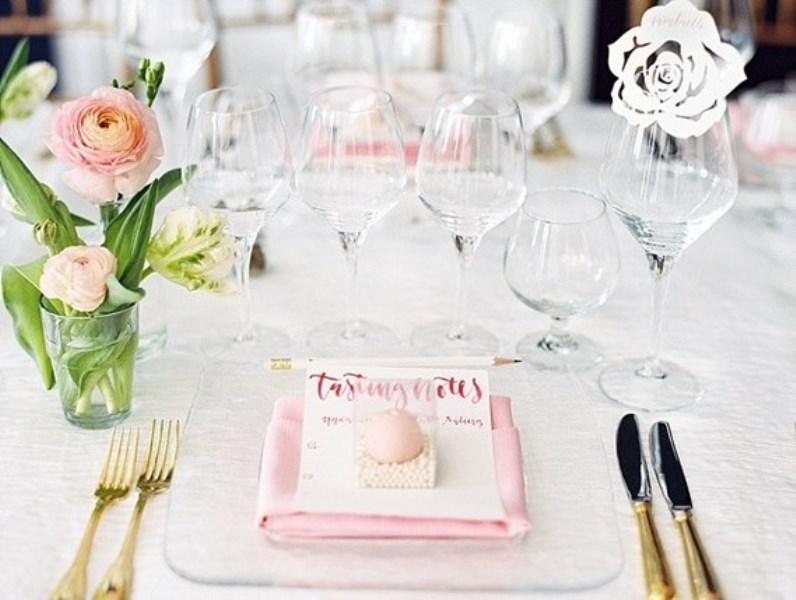 Picture Of modern and girly pink bridal shower inspiration  2