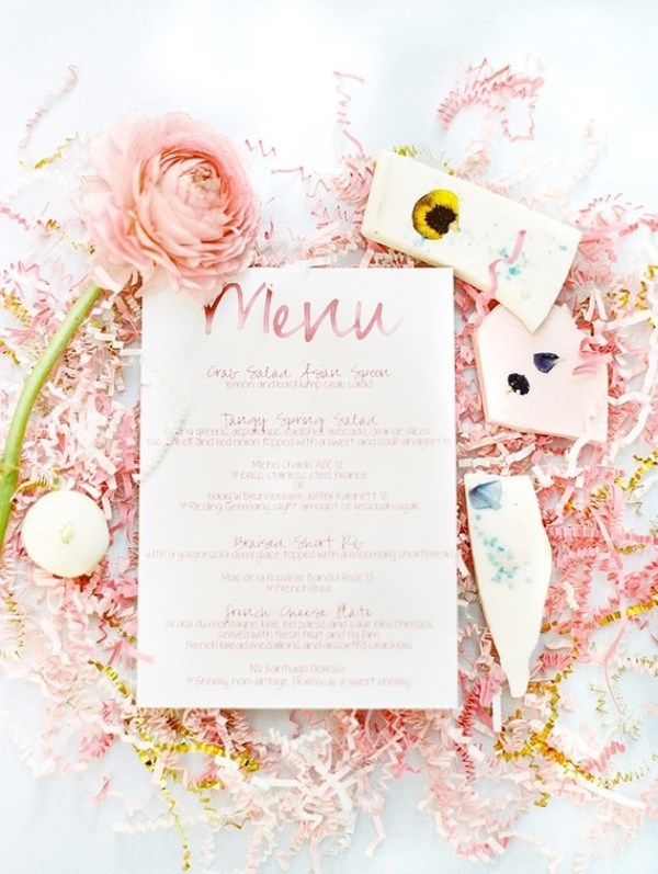 Picture Of modern and girly pink bridal shower inspiration  3