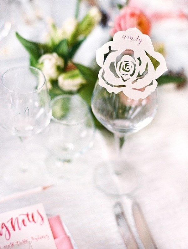 Picture Of modern and girly pink bridal shower inspiration  4