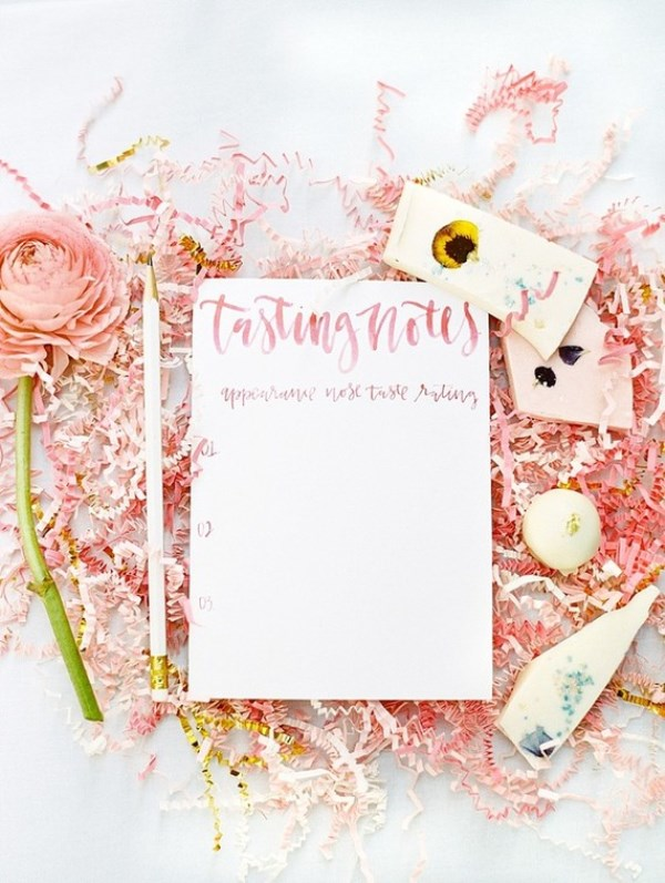 Picture Of modern and girly pink bridal shower inspiration  9