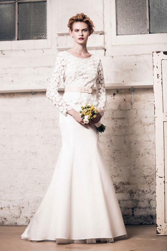 Picture Of modern and romantic muscat london 2016 bridal collection  8