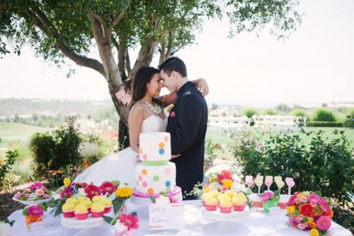 Modern And Vibrant Neon Wedding Inspirational Shoot