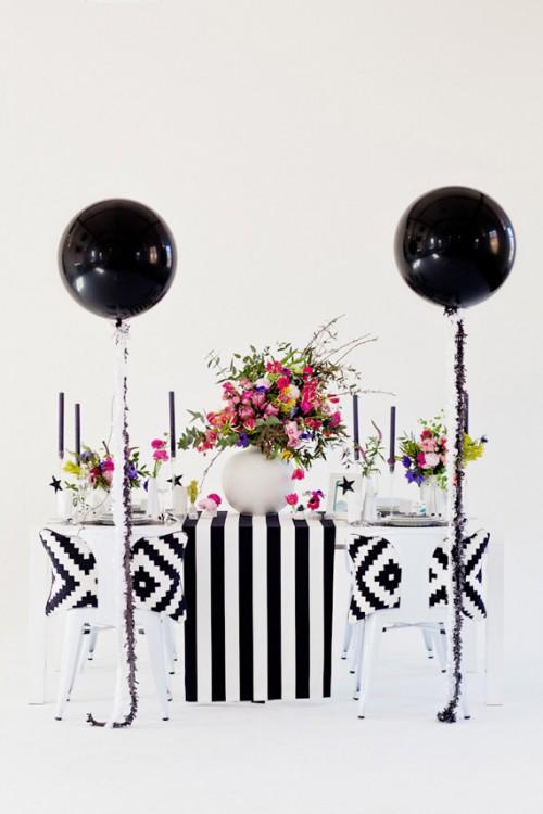 Modern Black, Pink And Aqua Wedding Inspiration