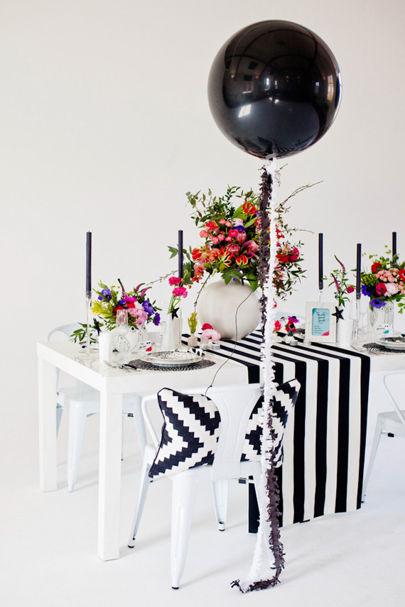 Modern Black Pink Andaqua Wedidng Inspiration