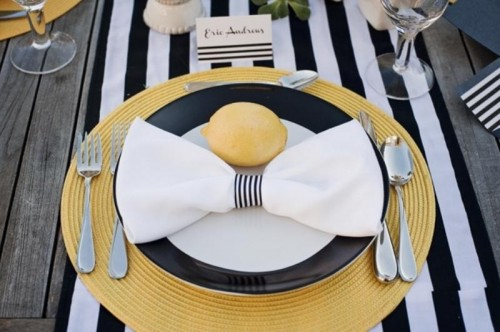 Modern Black, Yellow And White Wedding Inspiration