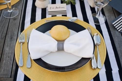 Modern Black Yellow And White Wedding Inspiration