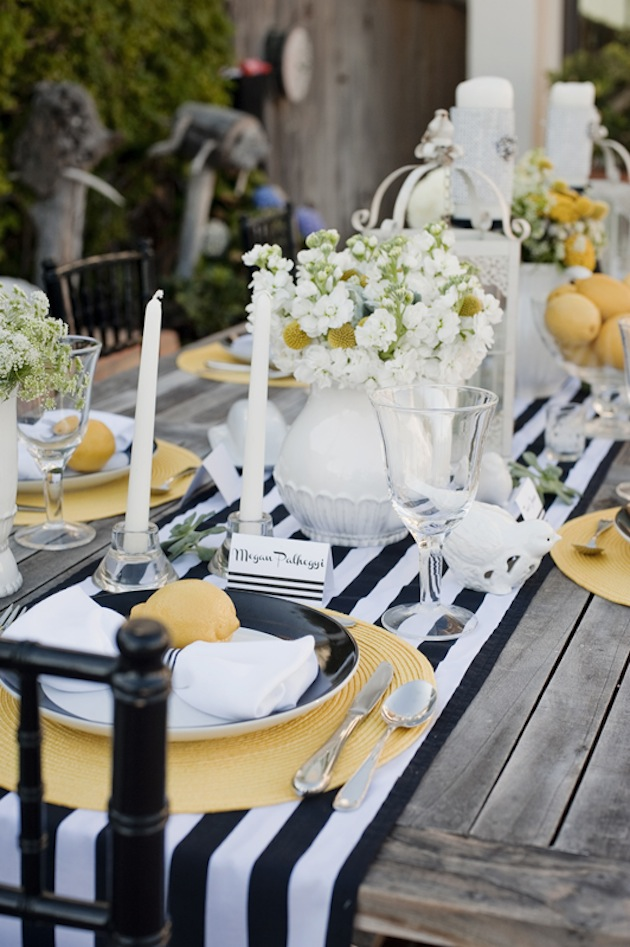 Picture Of Modern Black Yellow And White Wedding Inspiration