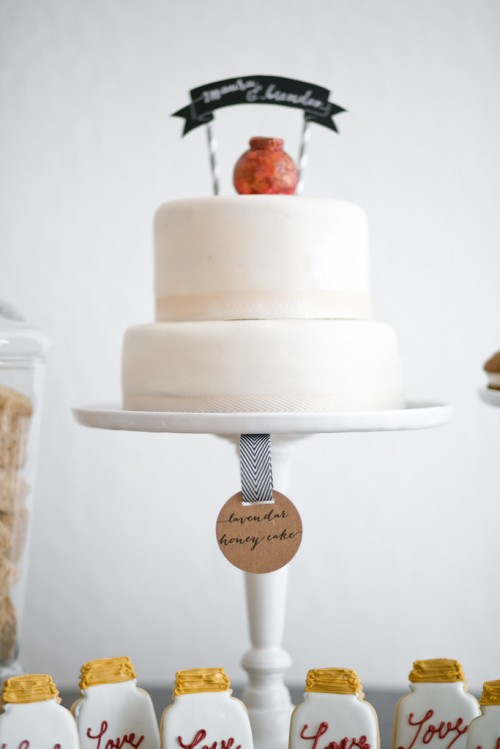Modern Dessert Table With A Rustic Touch
