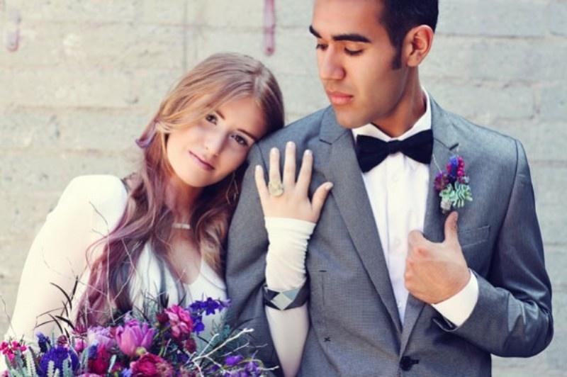 Modern Galaxy Inspired Wedding Inspirational Shoot