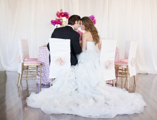 Modern Geometric Pink Wedding Inspiration
