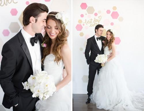Modern Geometric Pink Wedding Inspiration
