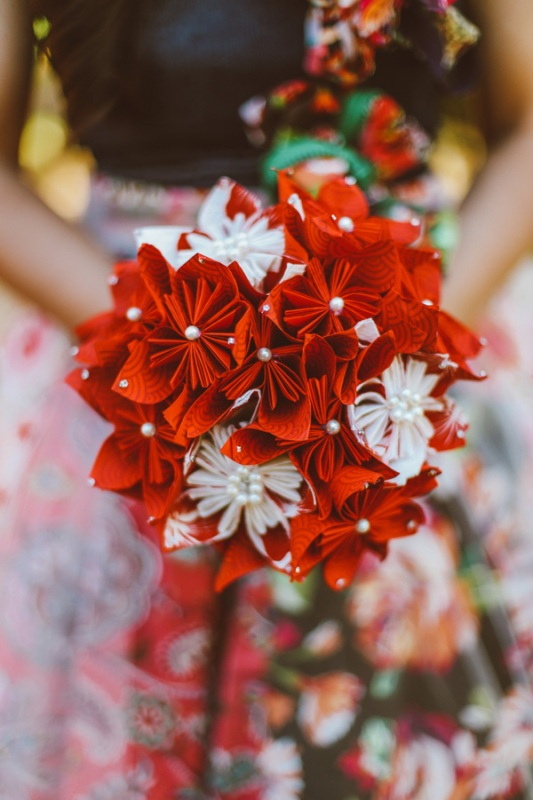 Picture Of modern japanese wedding with intricate and unique diy details  20