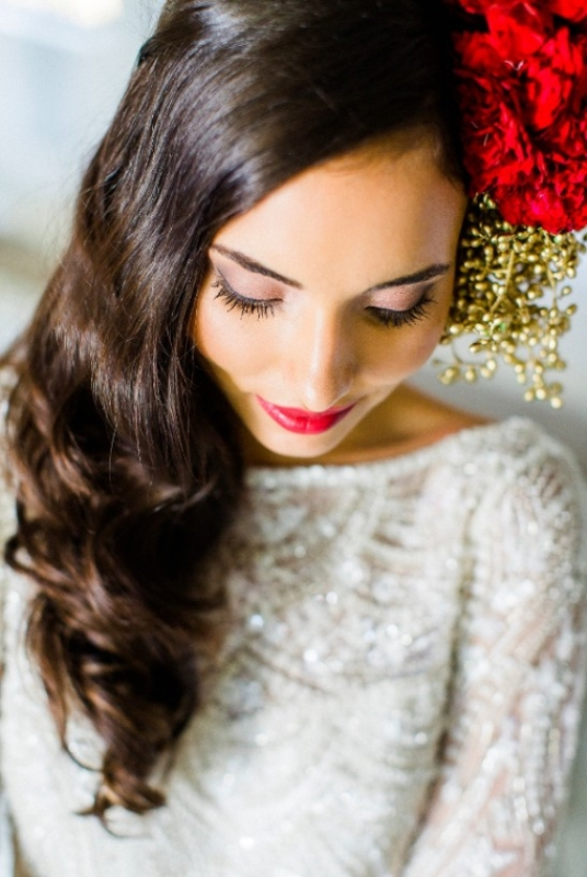 Picture Of modern marsala and berry wedding inspiration  11