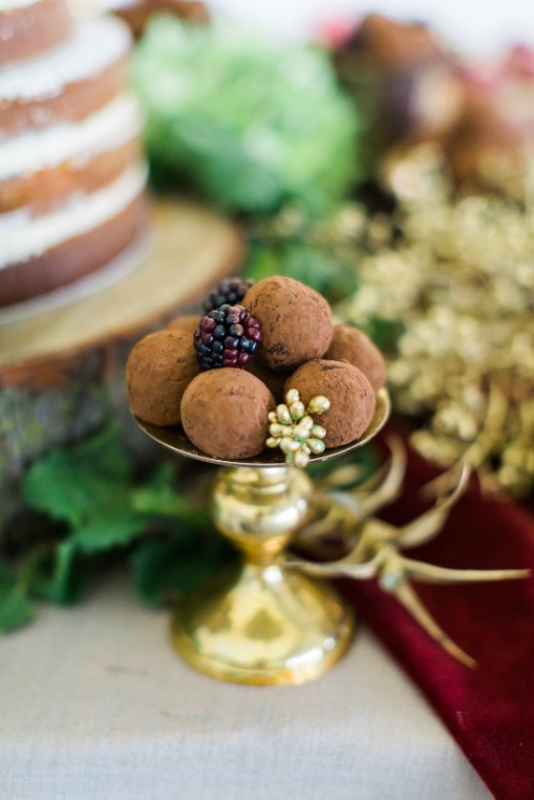 Picture Of modern marsala and berry wedding inspiration  15