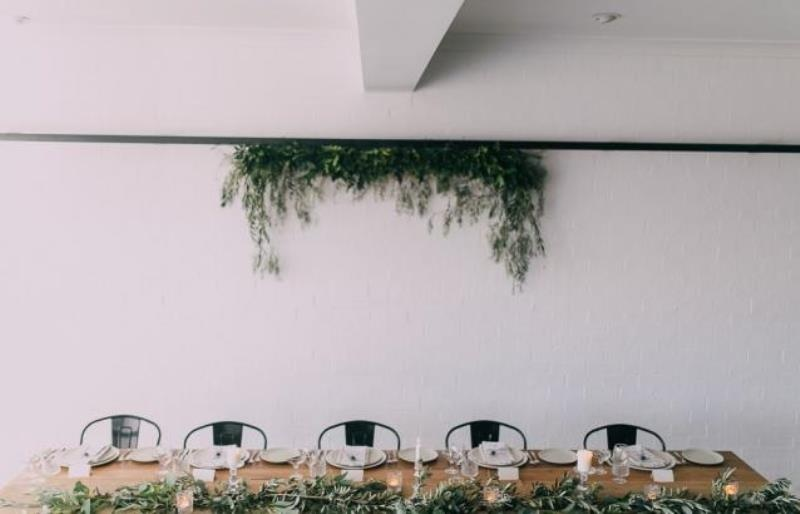 Picture Of modern wedding inspiration with lots of greenery  11