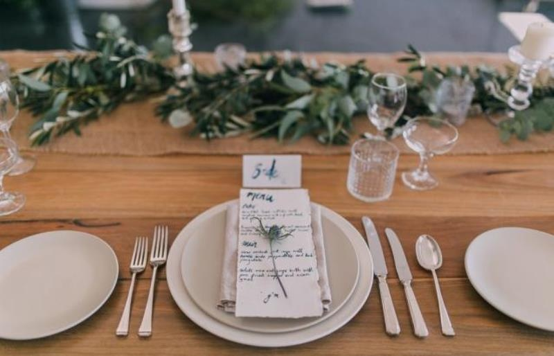 Picture Of modern wedding inspiration with lots of greenery  13